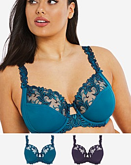 Pretty Secrets 2 Pack Flora Full Cup Wired Bras