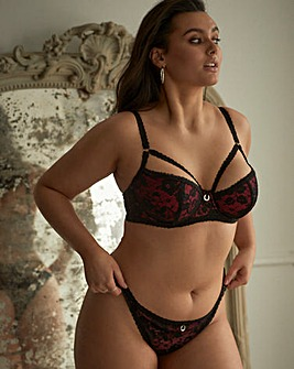 Simply Be Paris Rouge Leyla Padded Balcony Bra