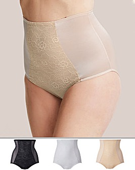 Magisculpt 3 Pack High Waisted Black/White/Natural Briefs Firm Control 3