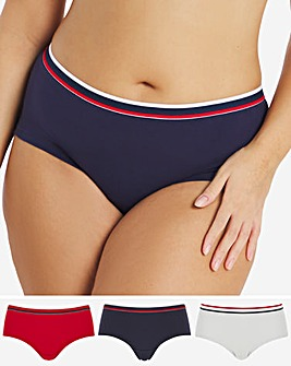 Pretty Secrets 3 Pack Striped Elastic Shorts