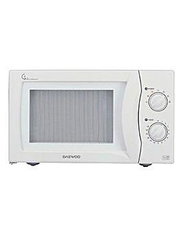 Daewoo 800W 20 Litre White Microwave