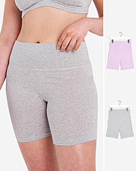 Pretty Secrets 2 Pack Cotton Comfort Cycling Shorts