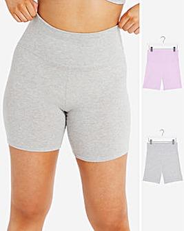 Pretty Secrets 2 Pack Cotton Comfort Cycling Shorts