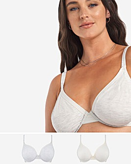 2 Pack Modal Cotton Full Cup Bra