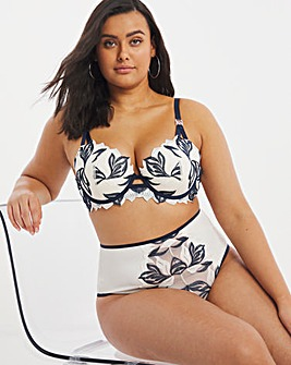 Contemporary Embroidery Padded Bra