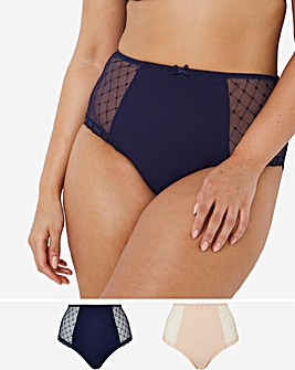 Pretty Secrets 2 Pack Embroidery Deep Brief