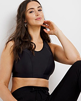 High Impact Padded Sports Bra with Back Support