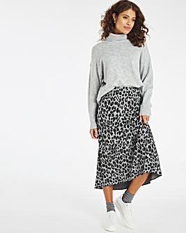 Jacquard Jersey Pull On Midi Skirt