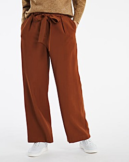 Paperbag Waist Wide Leg Trousers