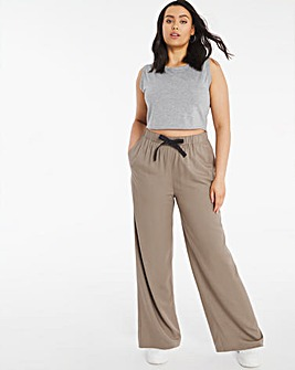 Tie Waist Wide Leg Trousers Regular