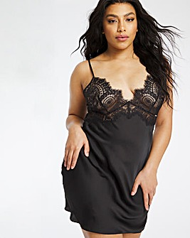Figleaves Curve Adore Lace Black Chemise