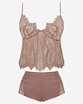 Figleaves Curve Adore Lace & Satin Shortie Set