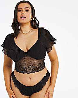 Figleaves Curve Desire Pleated Top & Knicker Set