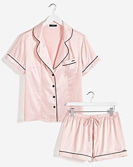 Figleaves Curve Romance Satin Pyjama Set