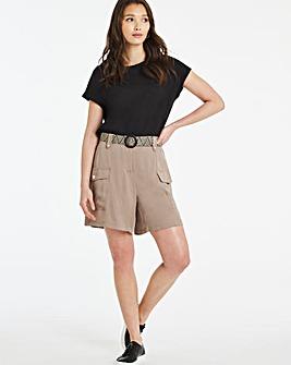 Belted Utility Shorts