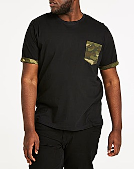 Camo Pocket Black S/S T-Shirt L