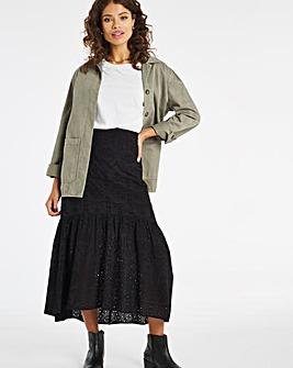 Broderie Maxi Skirt