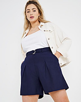 Navy D Ring Line Mix Shorts