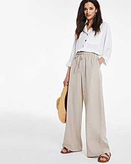 Super Wide Linen Mix Trousers