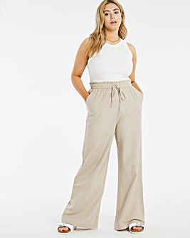 Super Wide Linen Mix Trousers