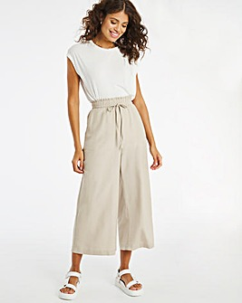 Linen Mix Wide Leg Culottes