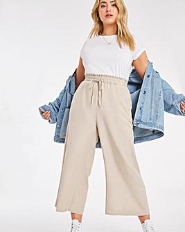 Linen Mix Wide Leg Culottes