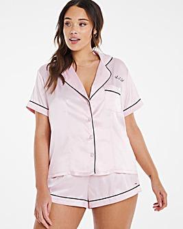 Figleaves Curve Romance Satin Personalised Pyjama Set
