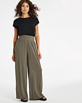 Crinkle Shirred Waist Trousers Regular