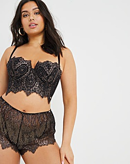 Figleaves Curve Adore Black Lace Padded Multiway Bra