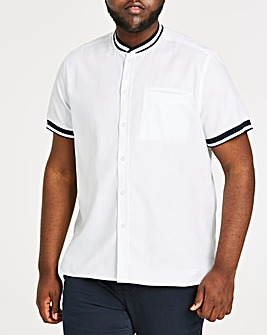 Baseball Collar Short Sleeve Shirt Long