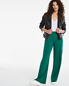Stretch Jersey Wide Leg Trouser Regular