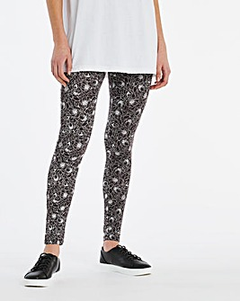 Mono Print Jersey Leggings Regular