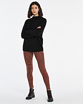 Leopard Print Jersey Leggings Regular