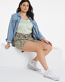 Khaki/Stone Tie Waist Shorts