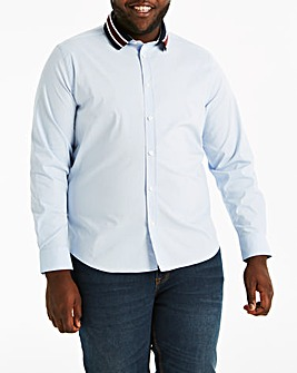 Tipped Collar Long Sleeve Shirt Regular