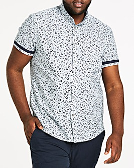 Ditsy Print Short Sleeve Shirt Long