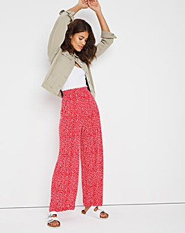 Stretch Jersey Wide Leg Trouser Short