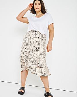 Spot Tie Waist Skirt