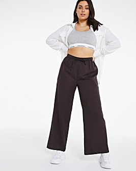 Wide Leg Trouser With Tie Waist Band