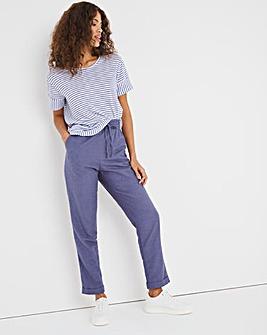 Easy Care Linen Wide Leg Trousers