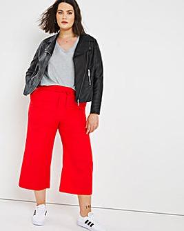 Easy Care Linen Wide Leg Culotte Trousers