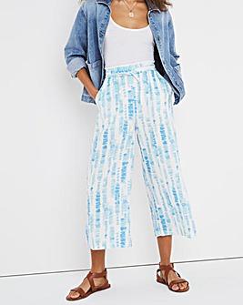 Linen Wide Leg Culotte Trousers