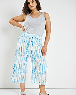 Linen Wide Leg Culotte Trousers