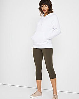 Khaki Cotton Crop Legging