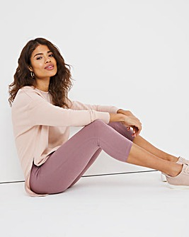 Dusty Pink Cotton Crop Legging