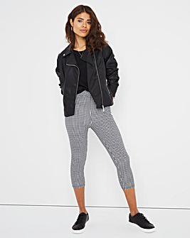 Checked Cotton Crop Legging