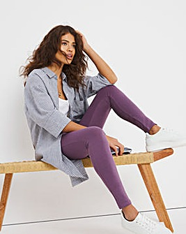 Mauve High Waist Cotton Rich Leggings