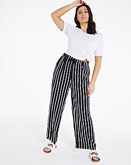 Tie Waist Wide Leg Trousers