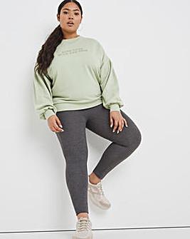 High Waisted Jersey Legging