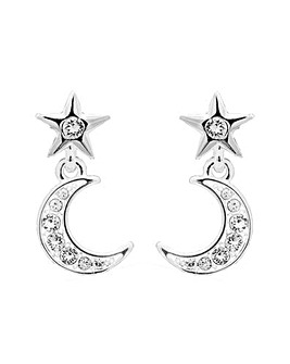 Silver Plated Celestial Made With Swarovski Crystal Earrings